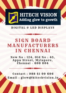 Sign Boards Chennai